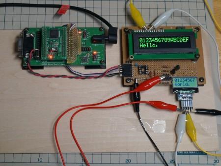 図2 SwitchScienceの LCD 8文字2行品の駆動