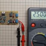 基準電圧源(2.500V)の出力電圧の測定