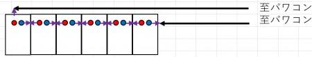 パネル縦置き時のパネル配線例