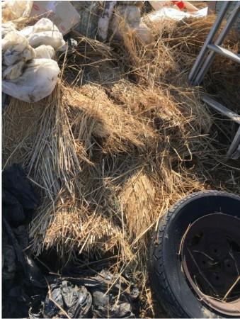 古い農機具小屋の残置物