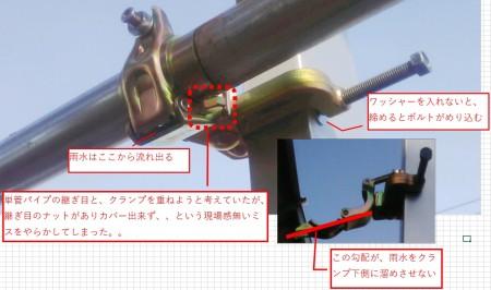 四角柱に単管パイプを付けてみるー2