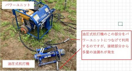 パワーユニットと油圧杭打機